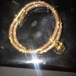 Louis Vuitton Keep It Twice Leather Bracelet